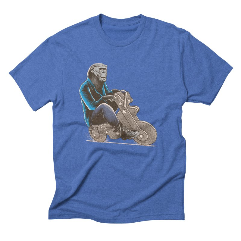 Happy Chimp Men's Triblend T-Shirt by barmalisiRTB