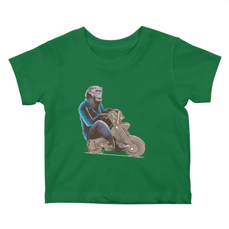 Happy Chimp Kids Baby T-Shirt by barmalisiRTB