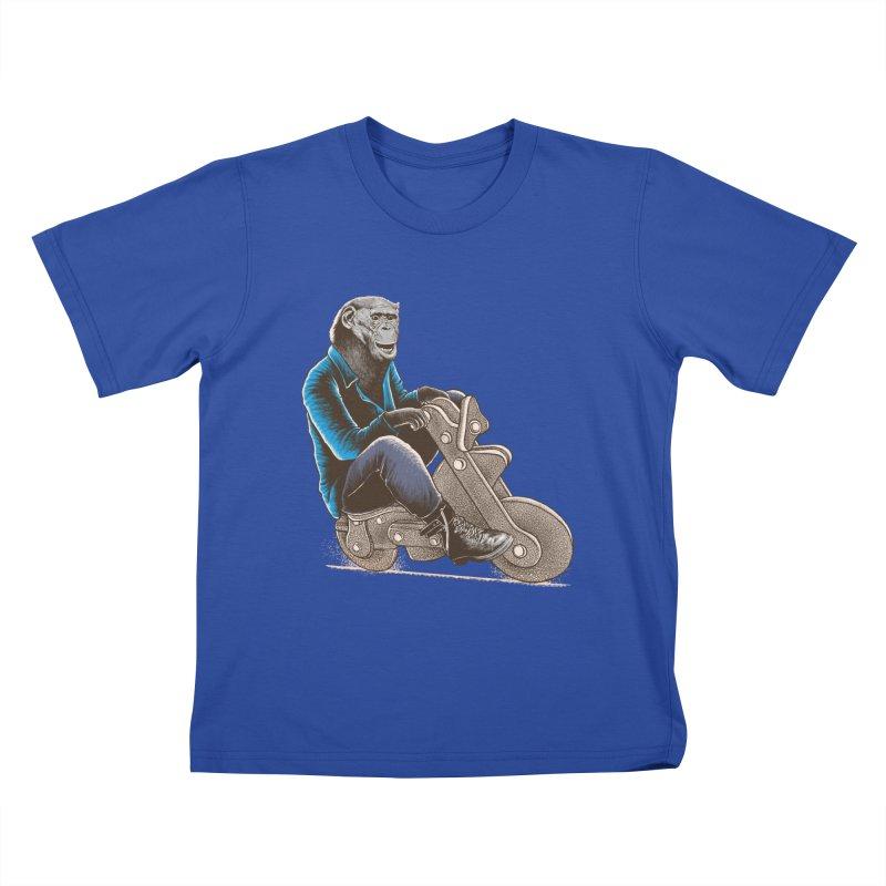 Happy Chimp Kids T-Shirt by barmalisiRTB