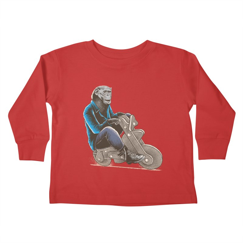 Happy Chimp Kids Toddler Longsleeve T-Shirt by barmalisiRTB