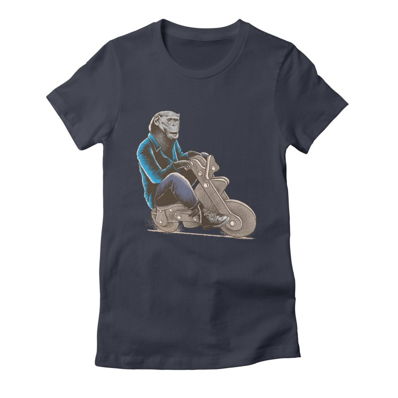 Happy Chimp Women's Fitted T-Shirt by barmalisiRTB