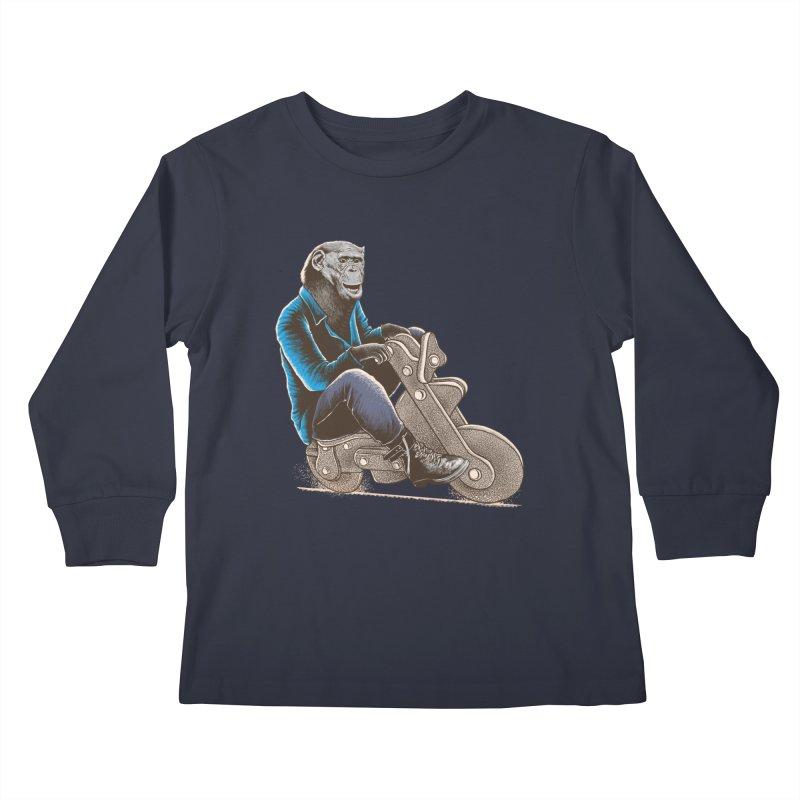 Happy Chimp Kids Longsleeve T-Shirt by barmalisiRTB