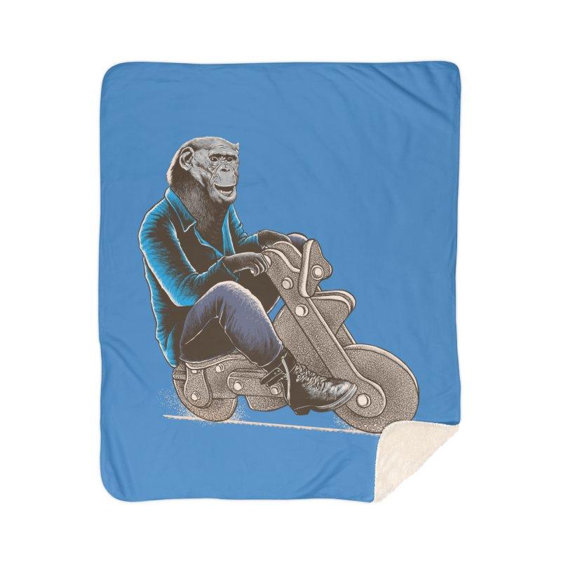 Happy Chimp Home Sherpa Blanket Blanket by barmalisiRTB