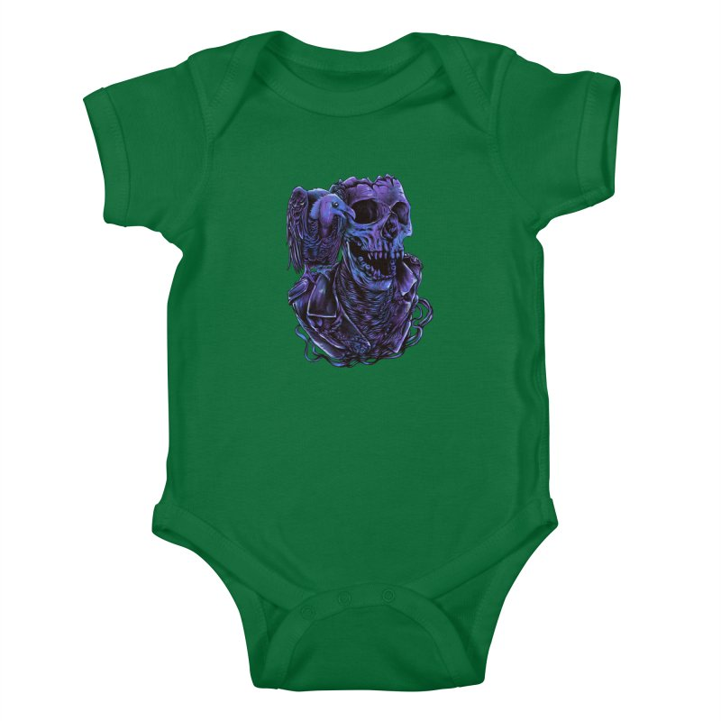 Revived skull Kids Baby Bodysuit by barmalisiRTB