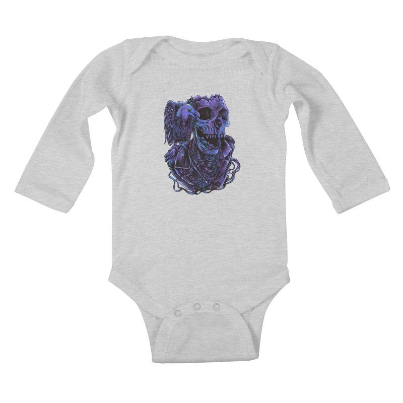 Revived skull Kids Baby Longsleeve Bodysuit by barmalisiRTB