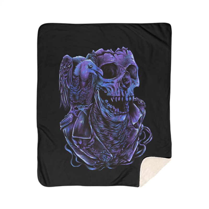 Revived skull Home Sherpa Blanket Blanket by barmalisiRTB