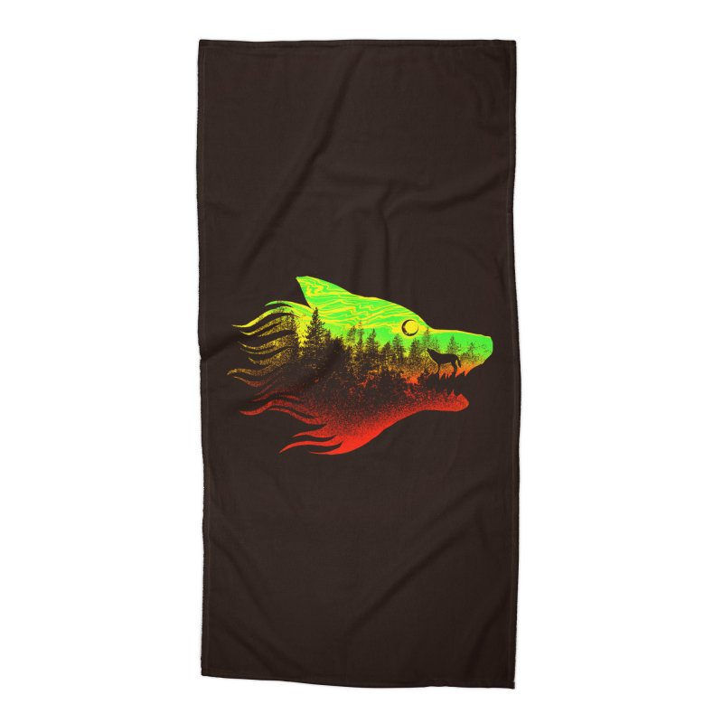 The Wolf Accessories Beach Towel by barmalisiRTB