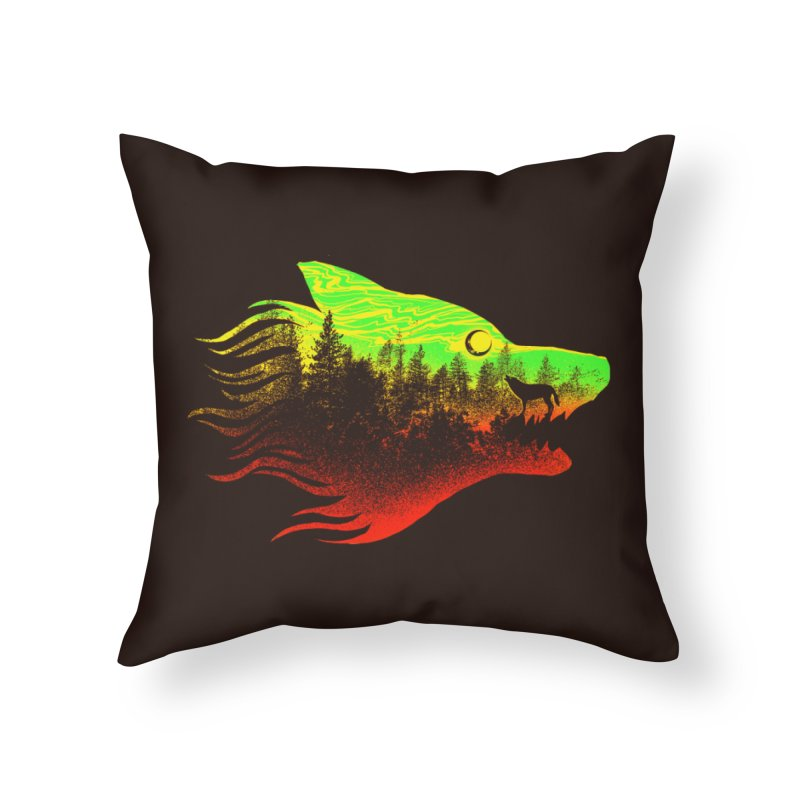 The Wolf Home Throw Pillow by barmalisiRTB