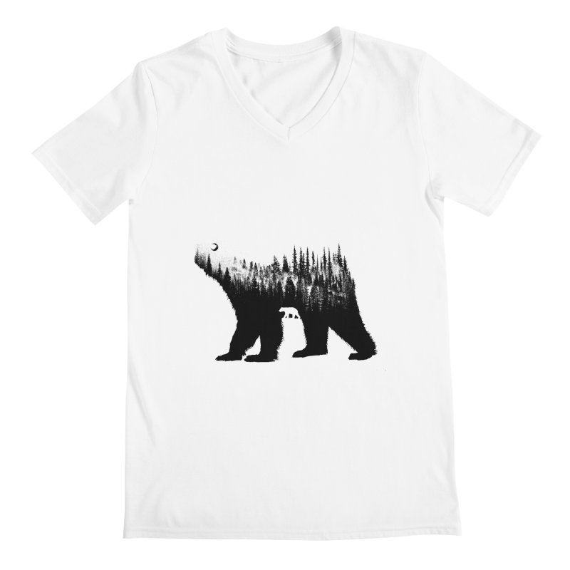 The Bear Men's V-Neck by barmalisiRTB