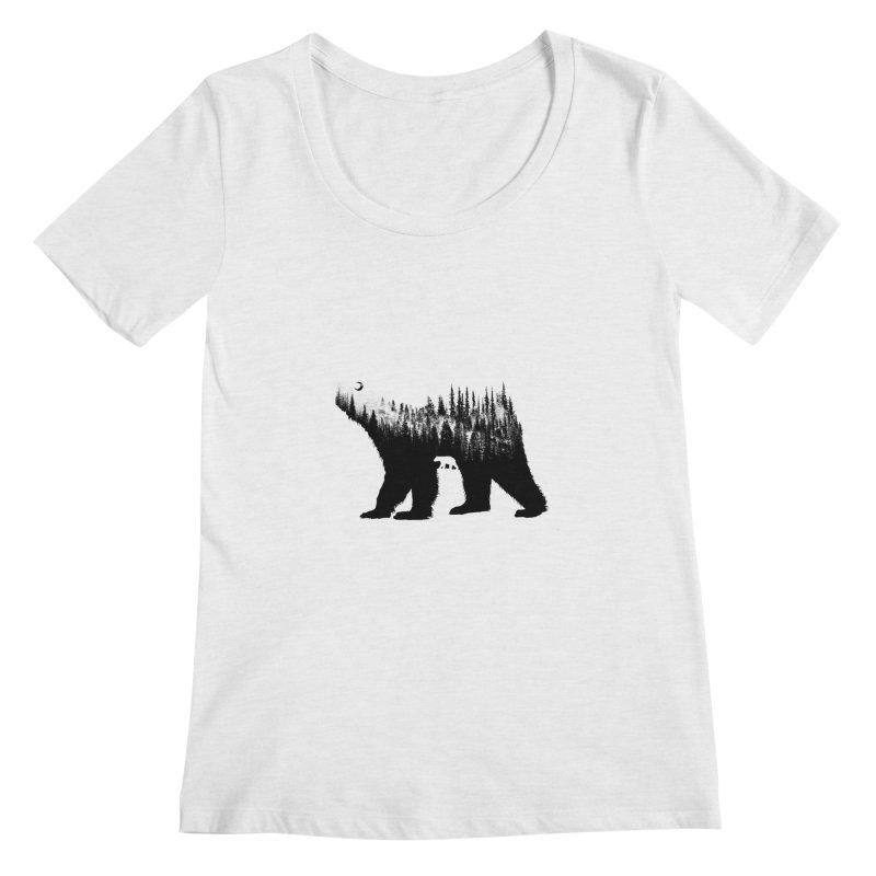 The Bear Women's Scoopneck by barmalisiRTB