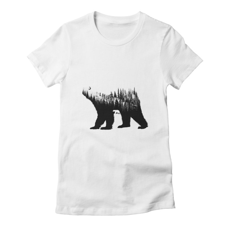 The Bear Women's Fitted T-Shirt by barmalisiRTB