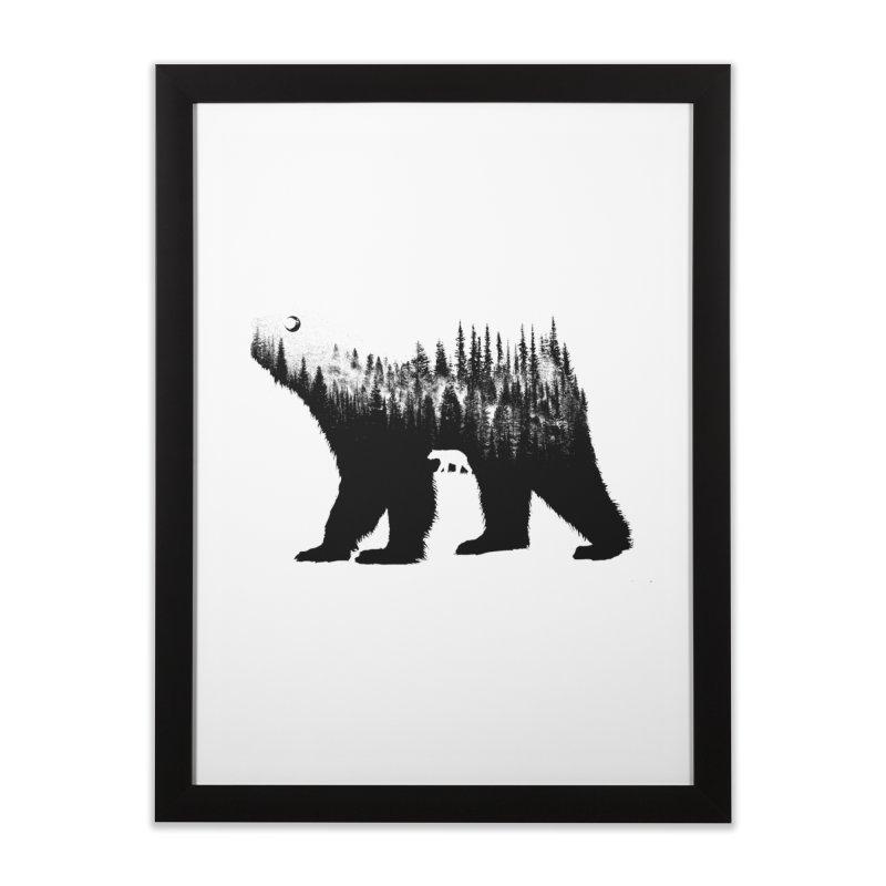 The Bear Home Framed Fine Art Print by barmalisiRTB