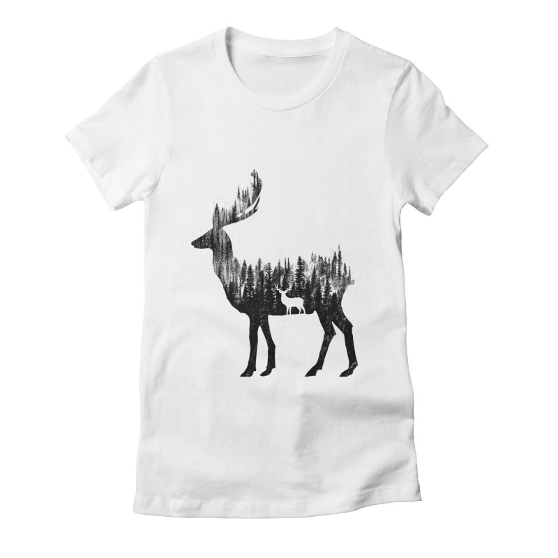 The Deer Women's Fitted T-Shirt by barmalisiRTB
