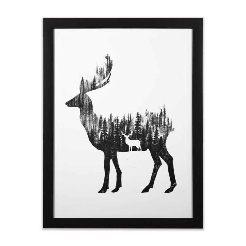 The Deer Home Framed Fine Art Print by barmalisiRTB