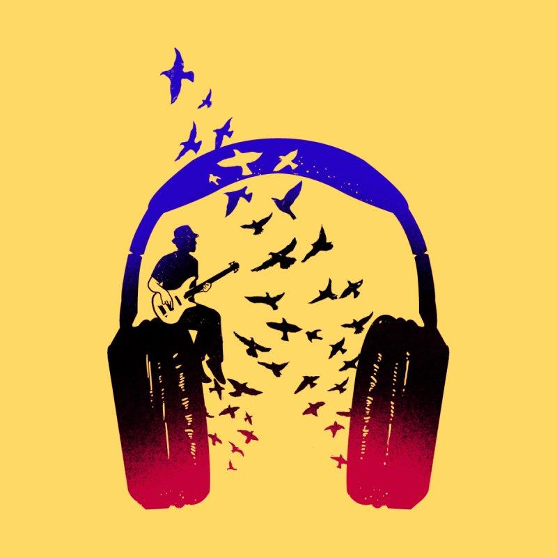 Headphone Music Bassist Men's T-Shirt by barmalisiRTB
