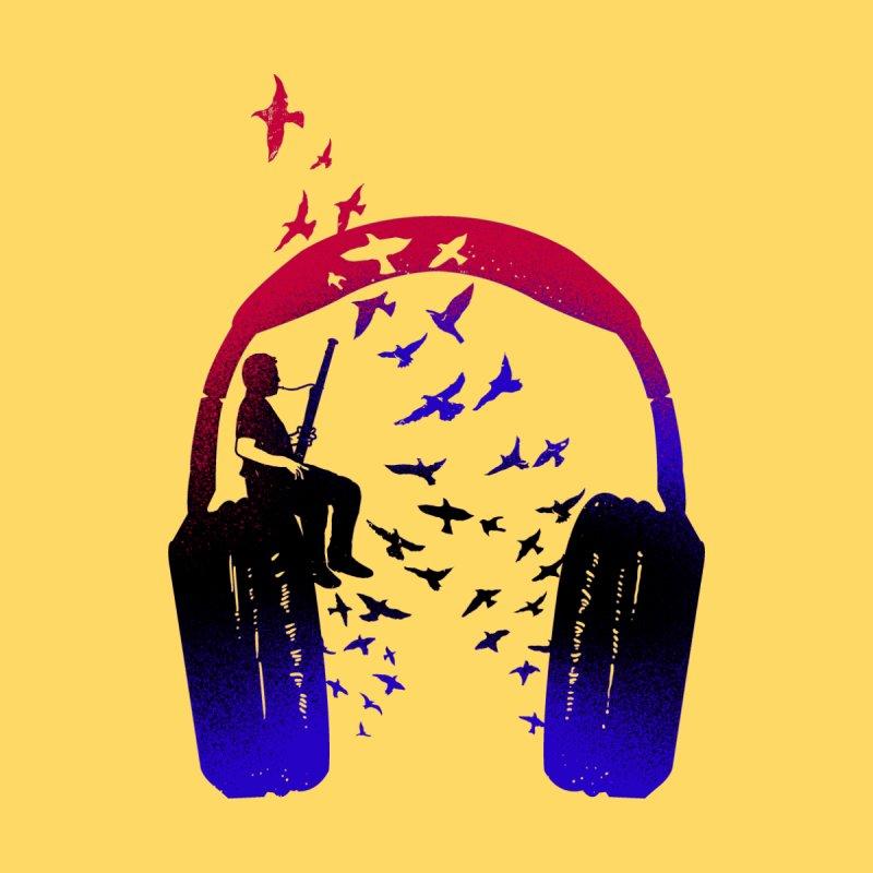 Headphone Music bassoon Men's T-Shirt by barmalisiRTB