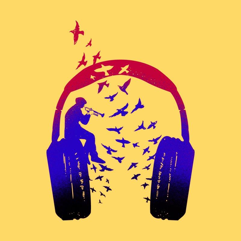 Headphone Music Bugle Men's T-Shirt by barmalisiRTB