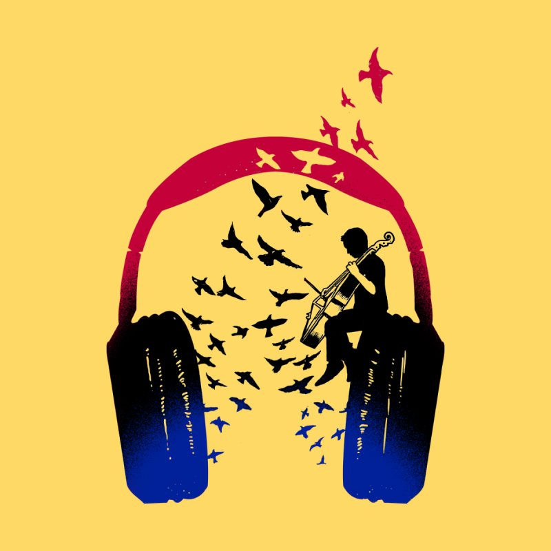 Headphone Music Cello Men's T-Shirt by barmalisiRTB