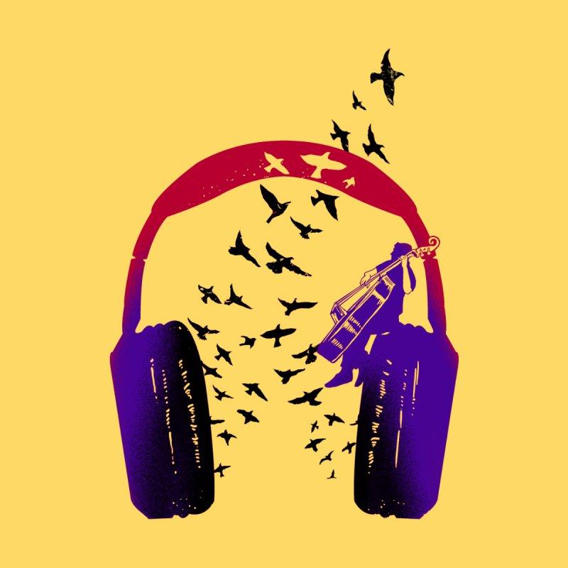 Headphone music Doublebass Men's T-Shirt by barmalisiRTB