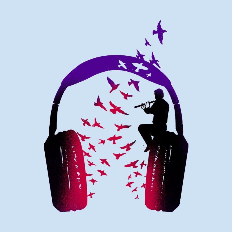 Headphone Music Flute Women's Scoop Neck by barmalisiRTB