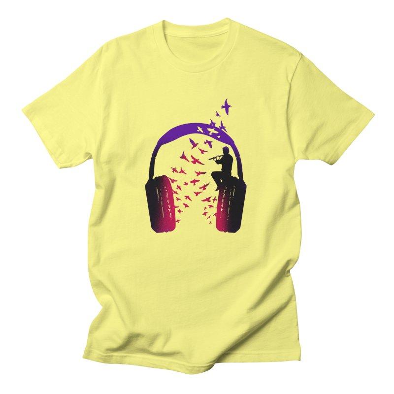 Headphone Music Flute Men's T-Shirt by barmalisiRTB