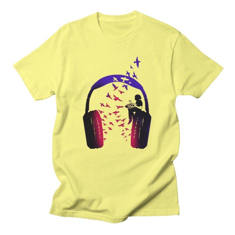 Headphone Music Hang Drum Men's T-Shirt by barmalisiRTB