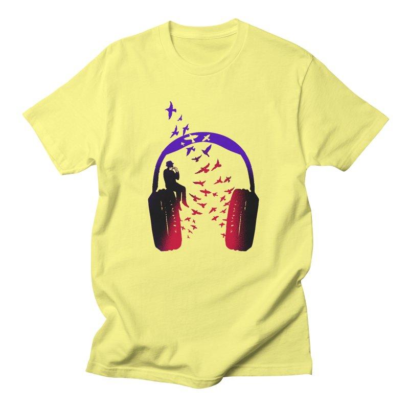 Headphone Music Harmonica Men's T-Shirt by barmalisiRTB