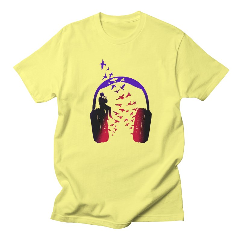 Headphone Music Harmonica Men's T-Shirt by barmalisiRTB