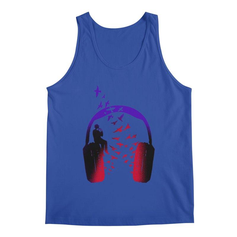 Headphone Music Harmonica Men's Tank by barmalisiRTB