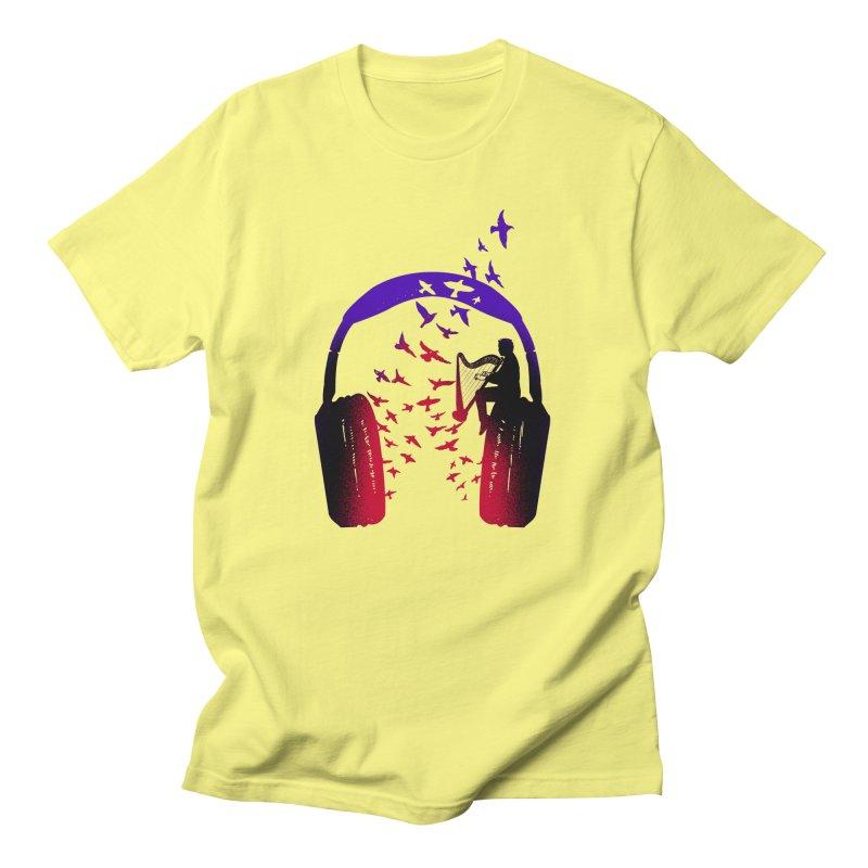 Headphone Music Harp Men's T-Shirt by barmalisiRTB
