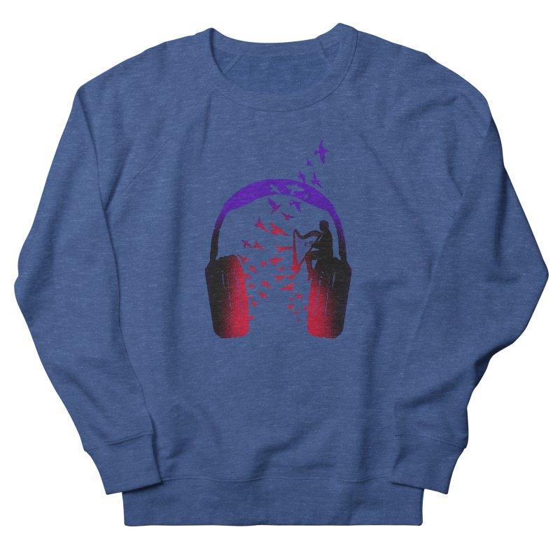 Headphone Music Harp Men's Sweatshirt by barmalisiRTB