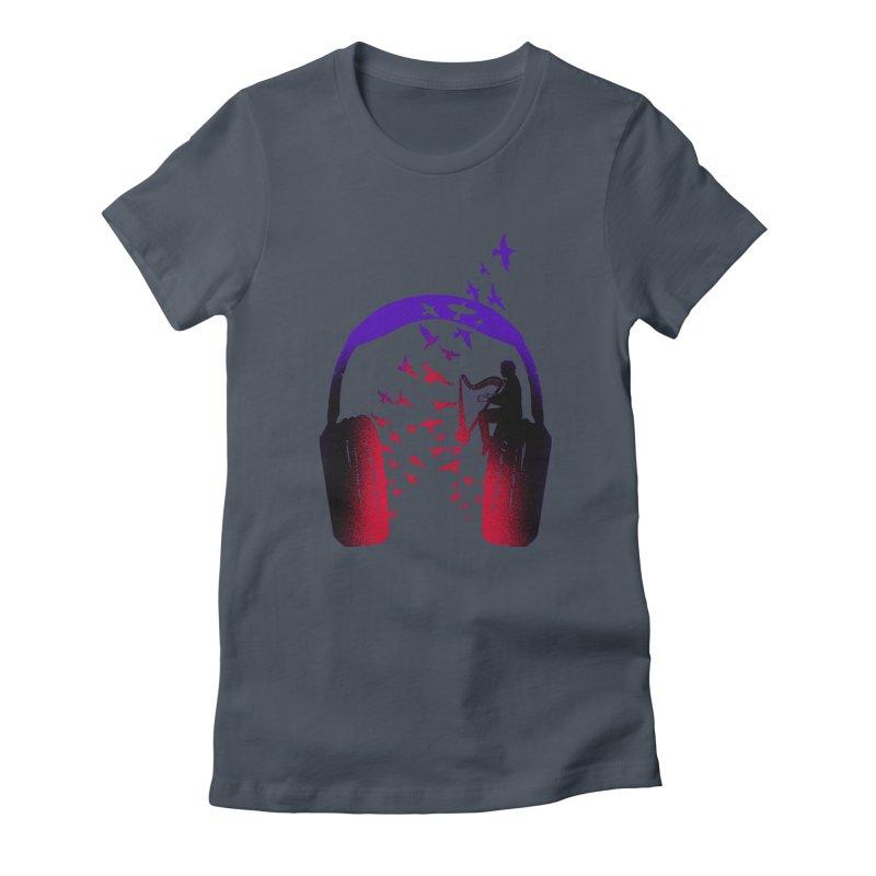 Headphone Music Harp Women's T-Shirt by barmalisiRTB