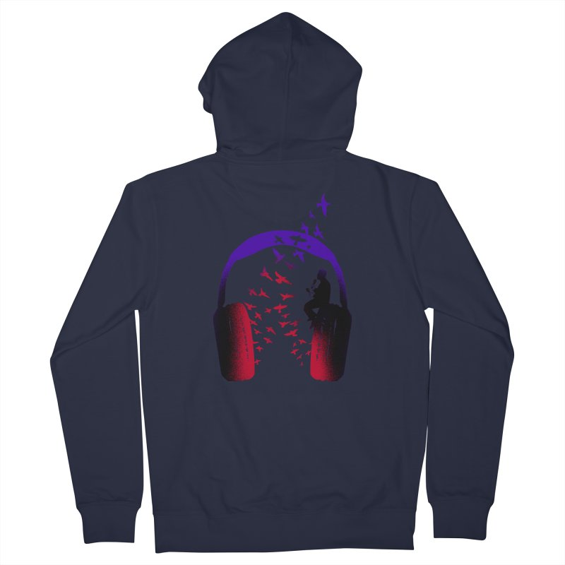 Headphone Music Maracas Women's Zip-Up Hoody by barmalisiRTB
