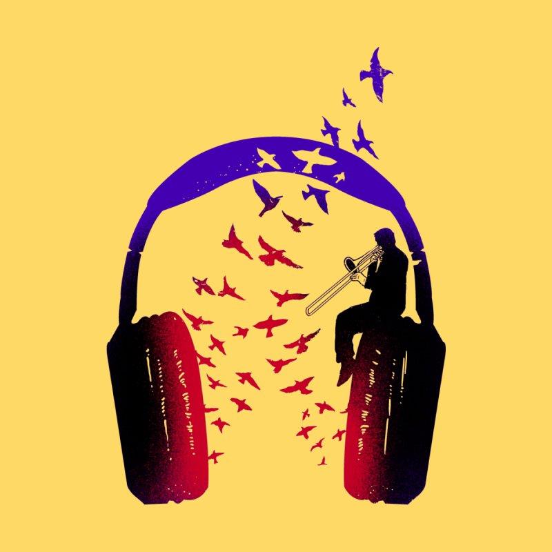 Headphone Music Trombone Women's Scoop Neck by barmalisiRTB