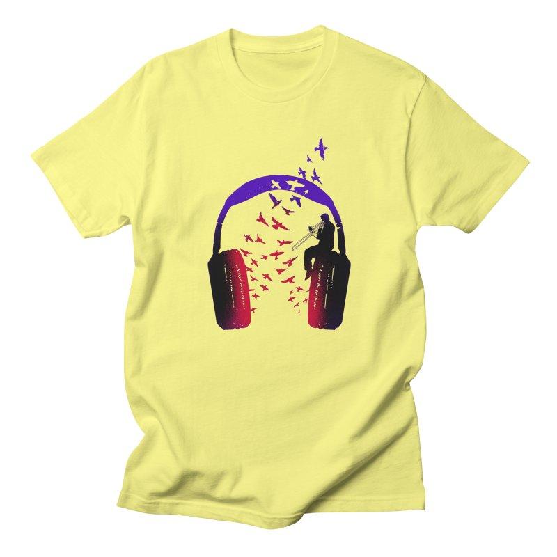 Headphone Music Trombone Men's T-Shirt by barmalisiRTB