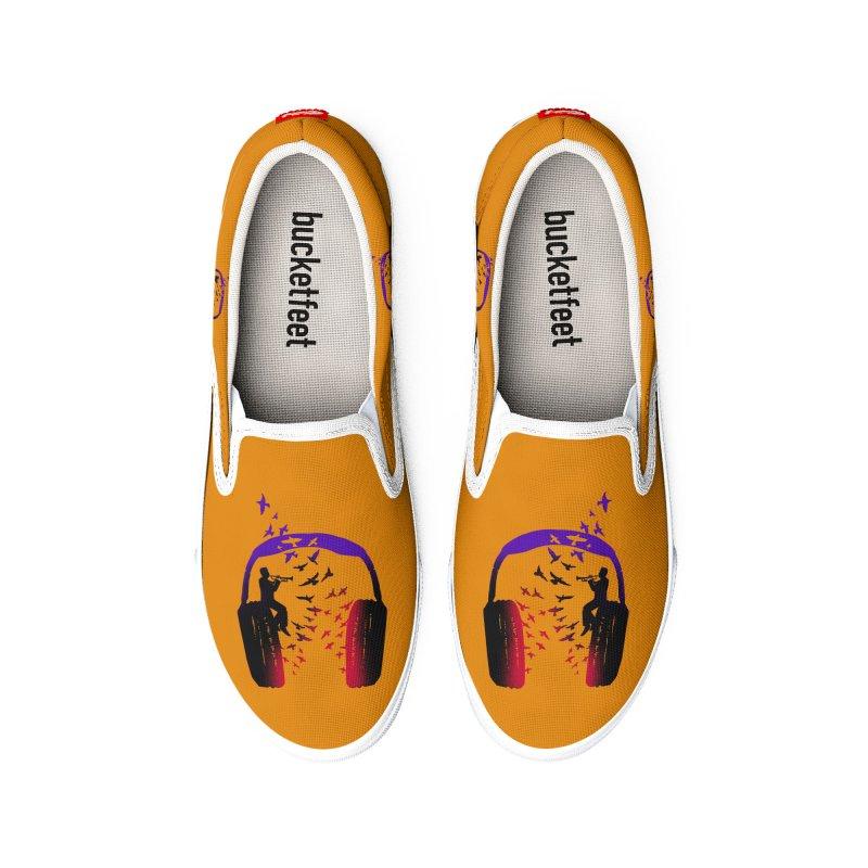 Headphone Music Trumpet Women's Shoes by barmalisiRTB