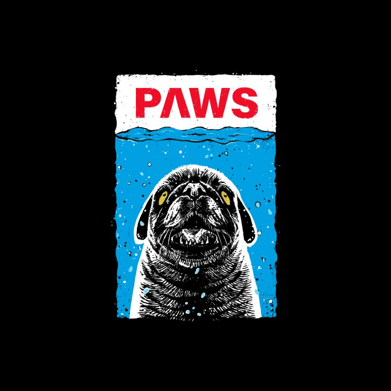 Paws Pug Men's T-Shirt by barmalisiRTB
