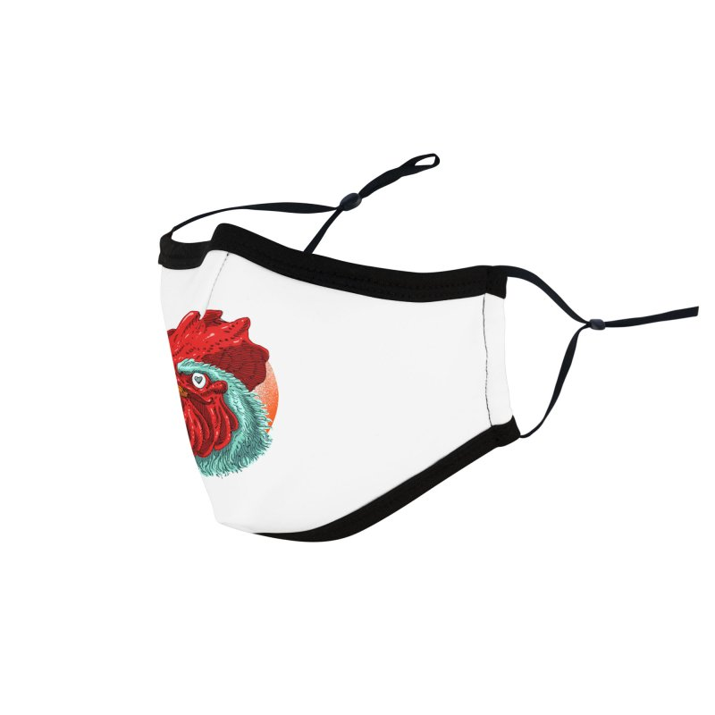Rooster Love Accessories Face Mask by barmalisiRTB