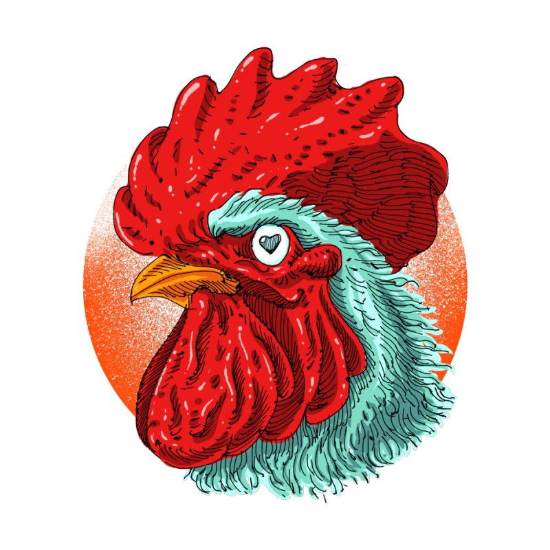 Rooster Love Men's T-Shirt by barmalisiRTB