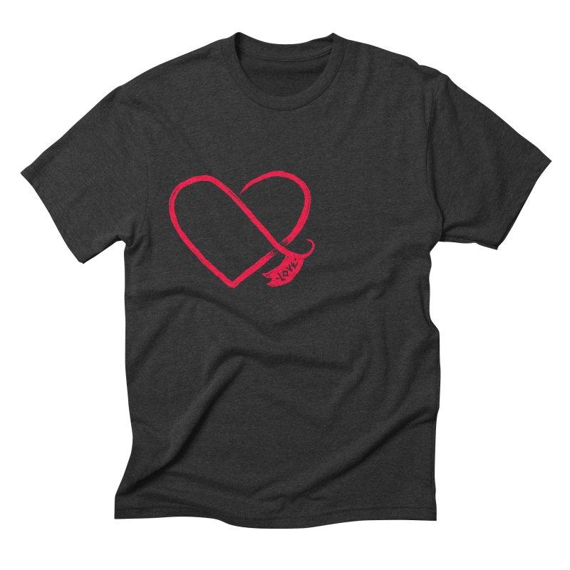 Love Men's Triblend T-shirt by barmalisiRTB