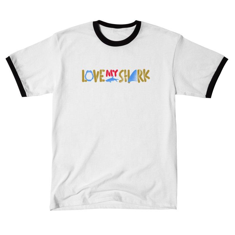 Love My Shark Men's T-Shirt by barmalisiRTB