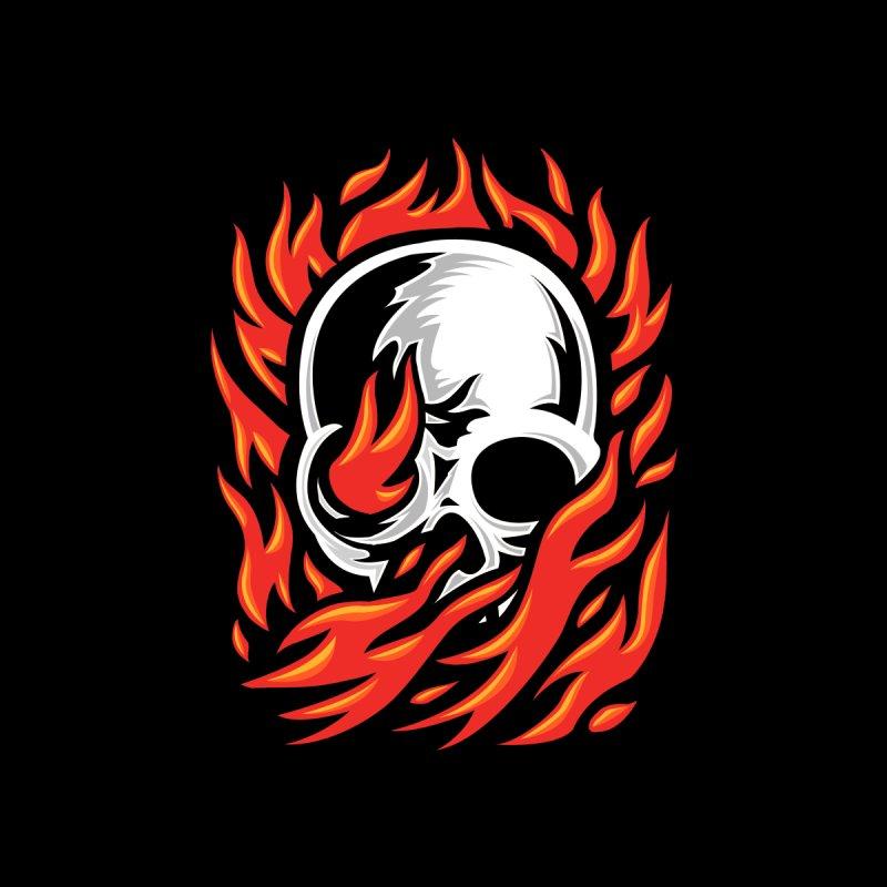 Fire Skull Men's T-Shirt by barmalisiRTB