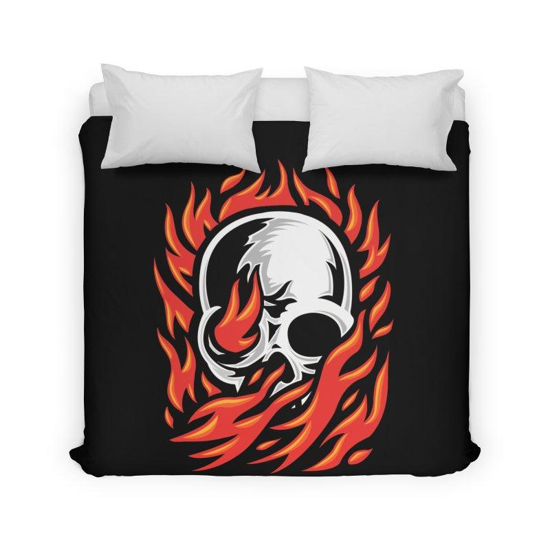 Fire Skull Home Duvet by barmalisiRTB