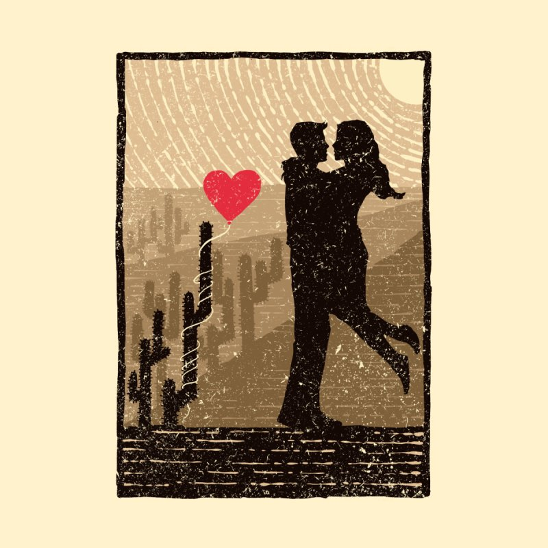 Romance desert Men's T-Shirt by barmalisiRTB