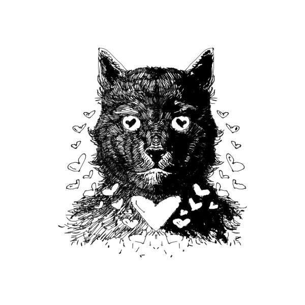 image for Love Cat Drawing