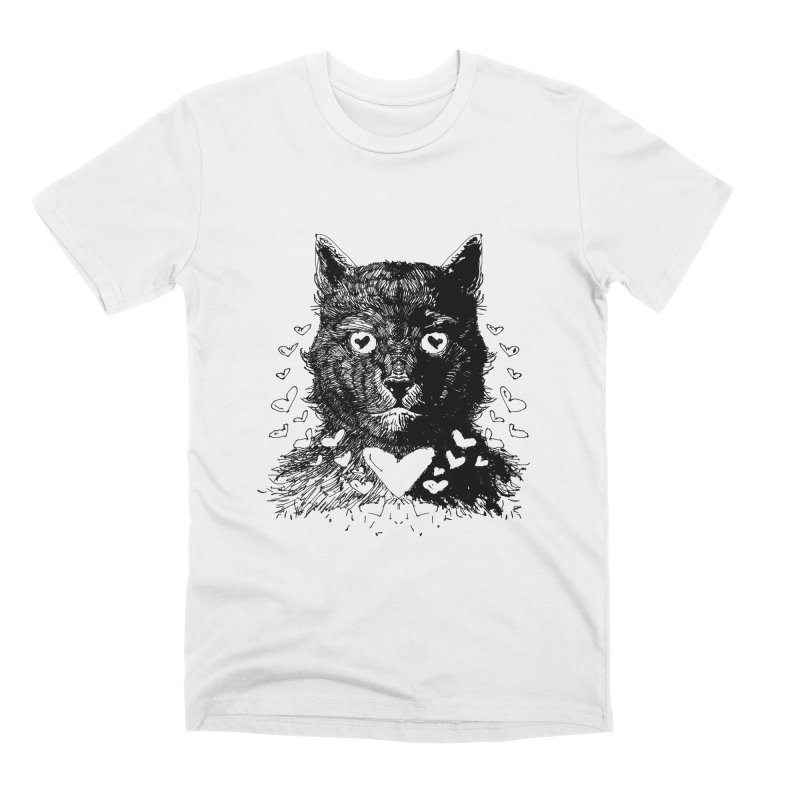 Love Cat Drawing Men's T-Shirt by barmalisiRTB