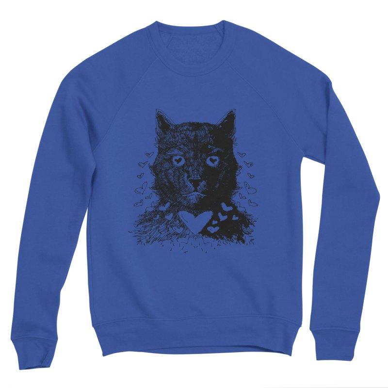 Love Cat Drawing Men's Sweatshirt by barmalisiRTB