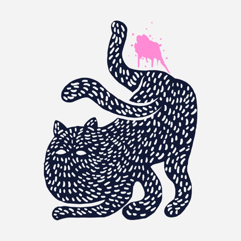Cat pee Men's T-Shirt by barmalisiRTB