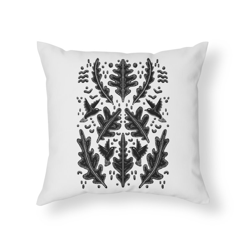 Spring Birds Home Throw Pillow by barmalisiRTB