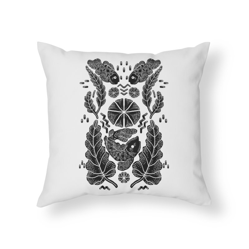 Nature Fish Home Throw Pillow by barmalisiRTB